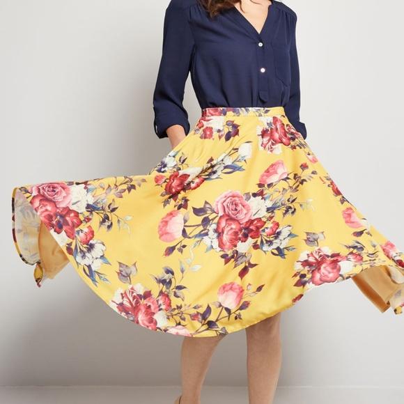 Modcloth Dresses & Skirts - ModCloth Ikebana for All A-Line Skirt
